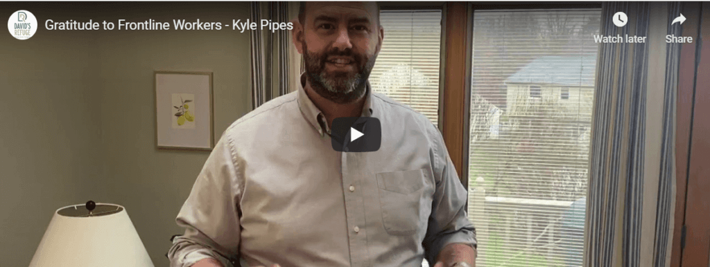 Showing Gratitude to Frontline Workers with Kyle Pipes