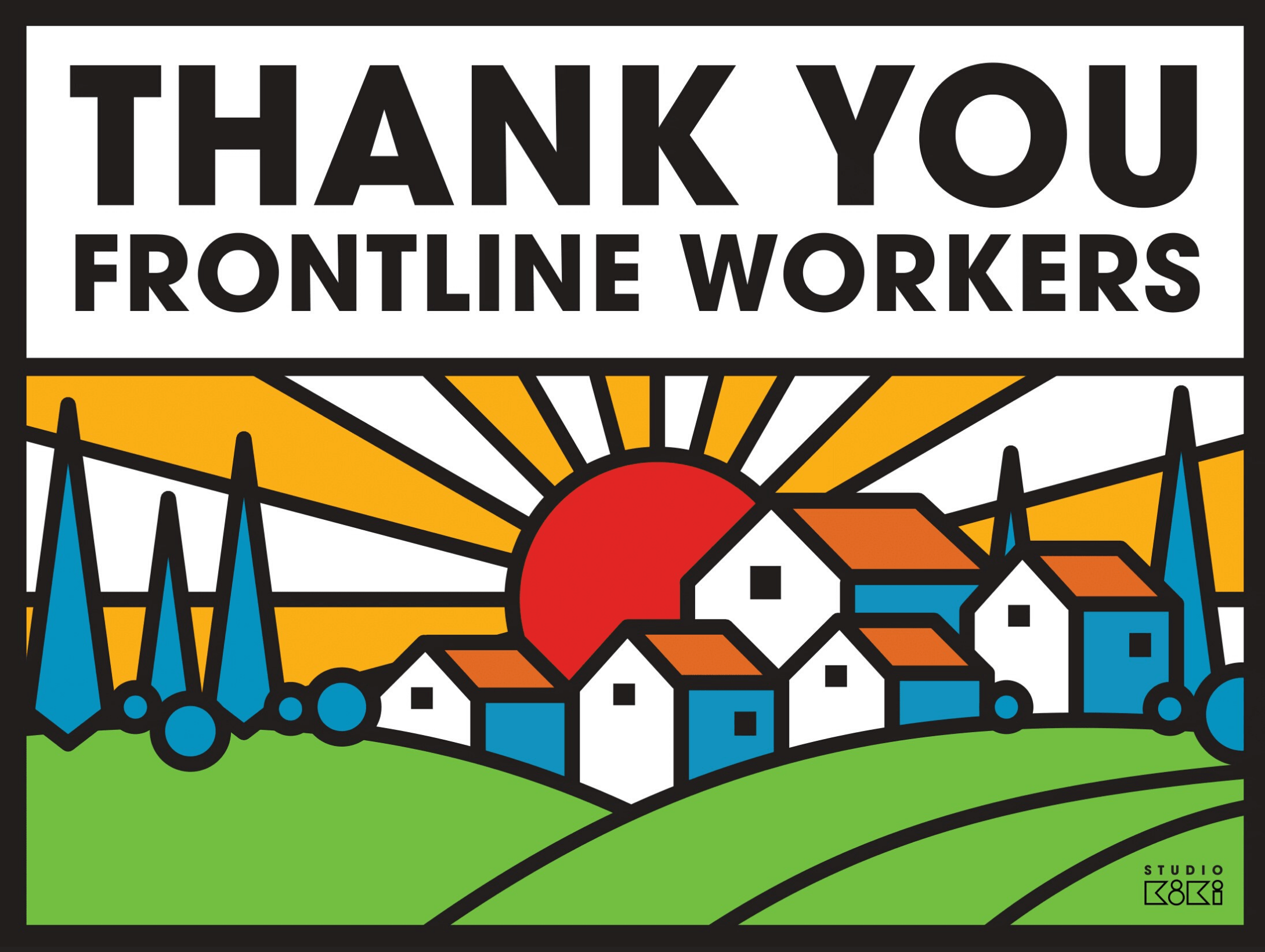 Free Downloads: Thank You Frontline Workers Signs | David ...